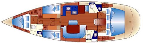 With a captain the 5 cabin layout is great for large families or 2 families with 4 kids. It also works for 4 couples or a large group of friends.